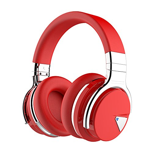 COWIN E7 Wireless Bluetooth Headphones with Mic Hi-Fi Deep Bass Wireless Headphones Over Ear, Comfortable Protein Earpads, 30 Hours Playtime for Travel Work TV Computer Phone - ()