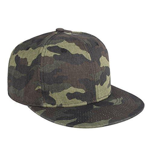ChezAbbey Solid Flat Brim Hip Hop Adjustable Hat Stylish Snapback Baseball Cap by ChezAbbey (Image #2)