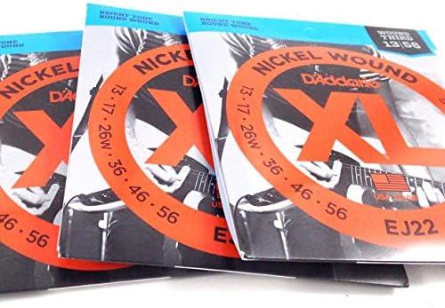 3 paquetes | D Addario EJ22 Jazz tamaño mediano 13 - 56 | cuerdas para