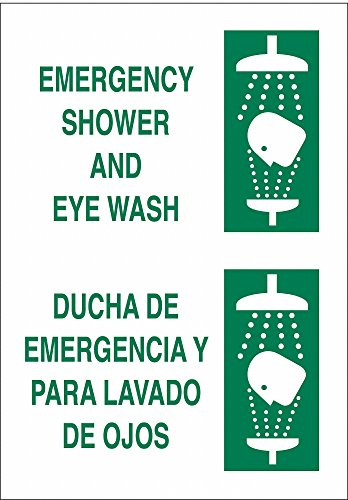 """Brady Eyewash and Shower, No Header, Plastic, 14"""" x 10"""", With Mounting Holes, not reflective 38993-1 Each from Brady"""