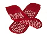 Medline MDT211218R Fall Prevention Slippers, Unisize, Red (Case of 48)