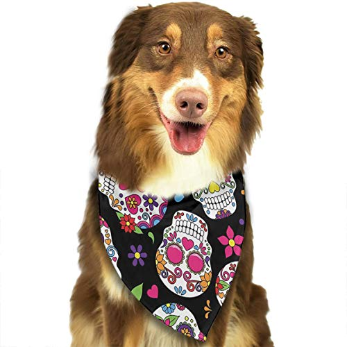 FRTSFLEE Dog Bandana Day of The Dead Sugar Skull Scarves Accessories Decoration for Pet Cats and Puppies]()
