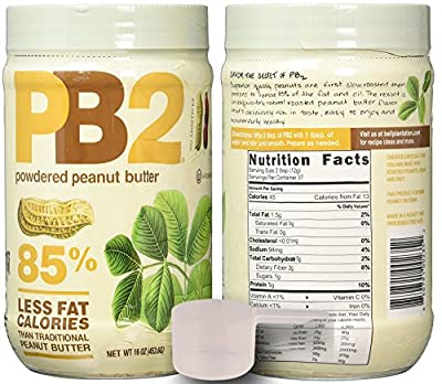 PB2 Powdered Peanut Butter Plain 2 Pack with BONUS Scoop and 3 Delicious PB2 Recipes, 2 1lbs jars from Bell Plantation from Bell Plantation