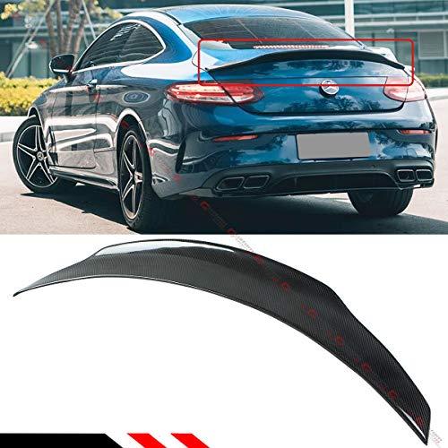 Coupe Door 2 Mercedes (Cuztom Tuning Fits for 2017-2019 Mercedes Benz W205 2 Door Coupe Carbon Fiber PSM Style Trunk Spoiler Wing)