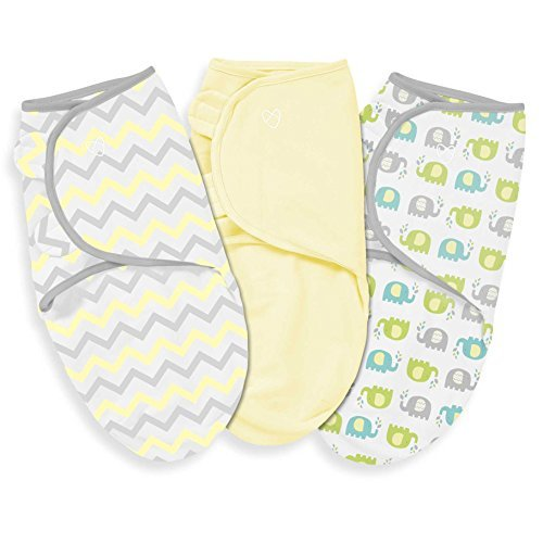 Summer Infant 3 Piece SwaddleMe Adjustable Infant Wrap, Chevron Splash, Large