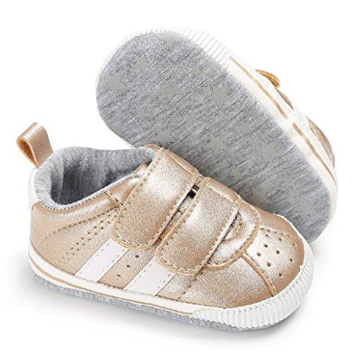 12 Oro Para Niño Las 6 Bebé Deporte De Muchachos Auxma Zapatillas Infantiles Mes Bebés Los Prewalker Muchachas Del 18 12 Zapatos Suaves TBwfq1n