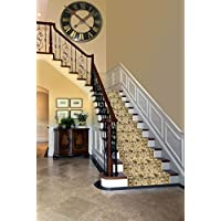 Custom Cut To Size Elegant Triumph Stair & Hallway Runner Non-Slip (Non-Skid) Runner Rug 26 Wide You Select Your Length (14 Ft, Ivory)