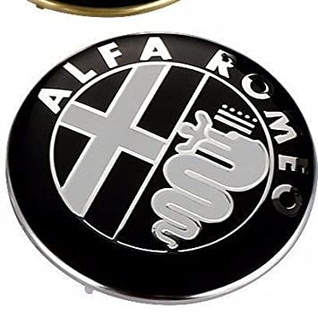 Escudo de Alfa Romeo para rejilla delantera o trasera, Giulietta, 159, Mito, 147, GT, 74 mm: Amazon.es: Coche y moto
