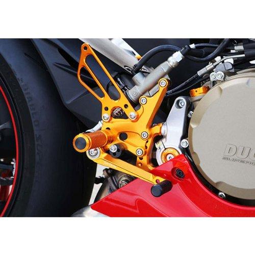 Sato Racing Billet Aluminum Anodized Gold Rear Sets for Ducati 1199 / 899 (D-1199RS-GD)