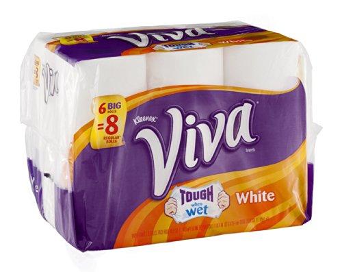 Viva Tough When Wet White Paper Towels 6 ROL