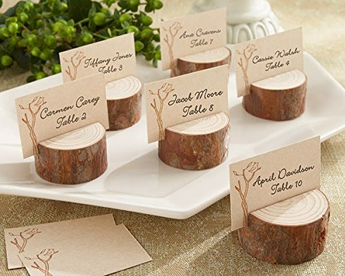 96 Rustic Real-Wood Place Card Holders
