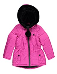 "KC Collections Little Girls' ""Pom Pom Zip"" Insulated Jacket"