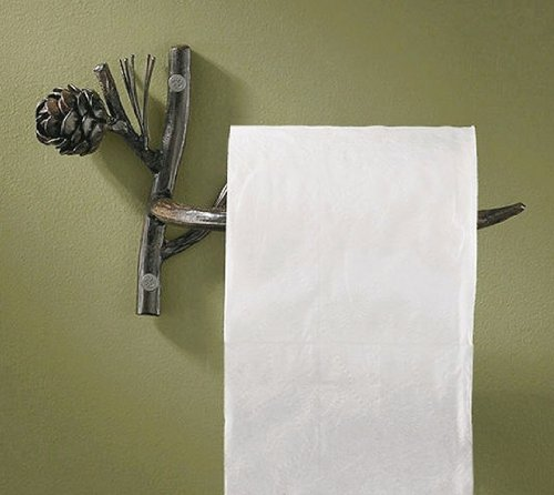 Pine Toilet (Park Designs Rustic Pinecone Lodge Toilet Paper Tissue Holder)