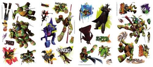 [Roommates Rmk2246Scs  Teenage Mutant Ninja Turtles Peel And Stick Wall Decals] (Ninja Turtle Kids)