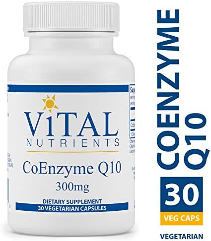 Vital Nutrients - CoEnzyme Q10 300 mg - CoQ10 - Potent Antioxidant and Free Radical Scavenger - 30 Vegetarian Capsules per Bottle