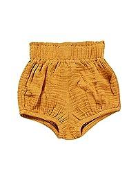 Kids Tales Unisex Baby Girls Boys Cotton Linen Blend Solid Bloomer Shorts