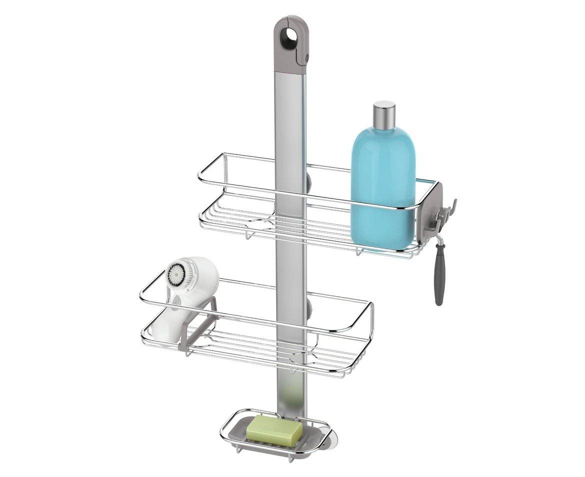 simplehuman Adjustable Shower Caddy, Stainless Steel + Anodized Aluminum by simplehuman