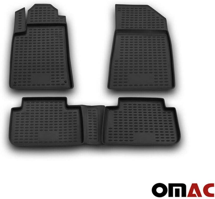 Omac Allwetter Auto Fußmatten Automatten Für C5 2001 2007 3d Passform Hoher Rand Gummimatten Allwetterfussmatten Schwarz 4 Teilig Auto