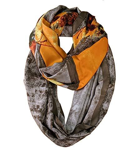 Scarfand's Mixed Color Oil Paint Infinity Versatile Fashion Scarf Head Wrap (Flower Pot ()