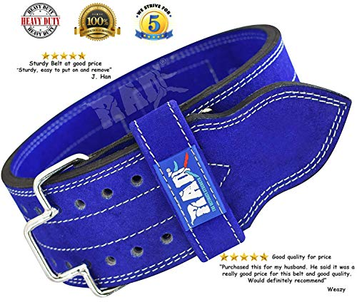 LIFETIME WARRANTY MED 10mm Powerlifting BLUE Belt Murderous Row Lever Belt