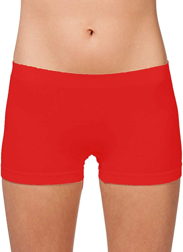 Khanomak Womens Plus//Regular One Size Short Length Slip Short Dance Short