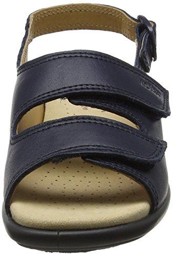 Hotter Damen Easy Offene Sandalen mit Keilabsatz, Black, Black, 37 EU blau (marineblau)