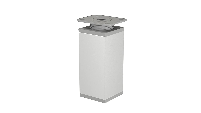 Profil: 40 x 40 mm 20mm Modern Aluminium M/öbelfu/ß Schrankfu/ß H/öhenverstellbar H/öhe 60mm 4-St/ück, Farbe: MATTSCHWARZ EMT-DESIGN/® Design