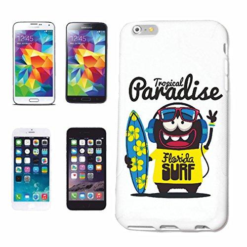 """cas de téléphone iPhone 6+ Plus """"TROPICALES ONDES DE SURF PARADISE FLORIDA SURF SURF BEACH SURFBOARDS LONGBOARD Beginner Shop"""" Hard Case Cover Téléphone Covers Smart Cover pour Apple iPhone en blanc"""