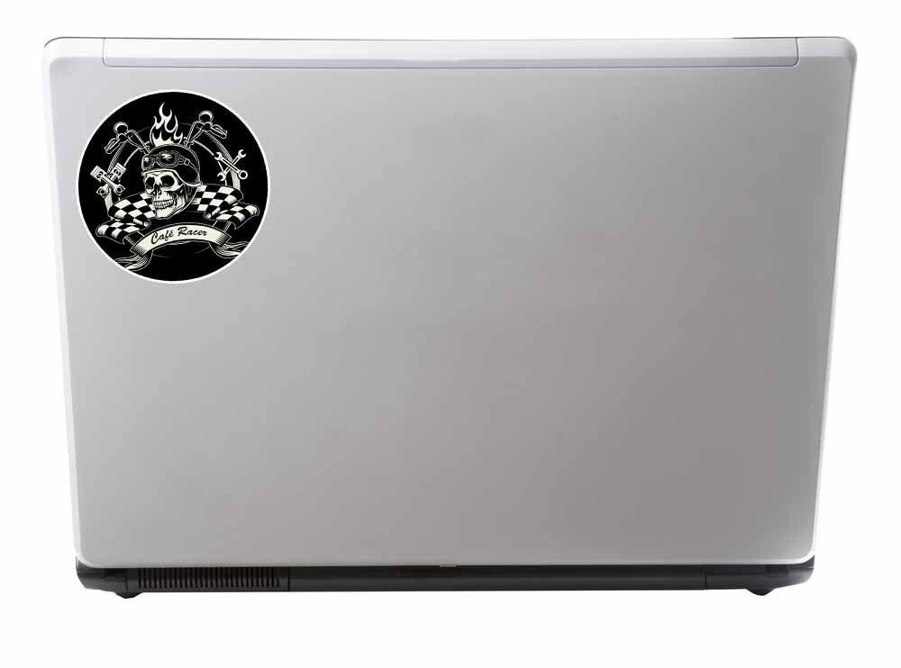 2/x Cafe Racer Vinyl Aufkleber Aufkleber Laptop Auto Reise Gep/äck Label Tag # 9760-15cm//150mm Wide