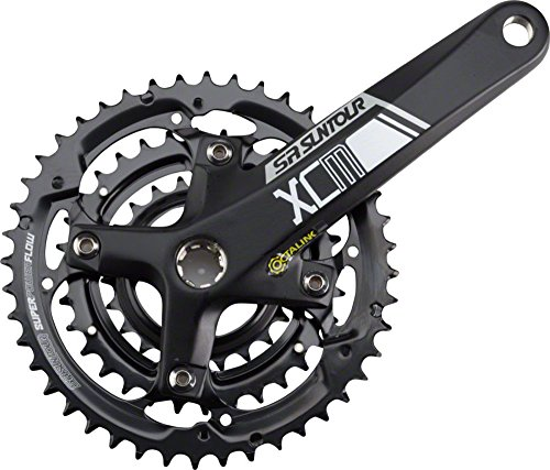 SR Suntour Crankset Xcm 9-speed 44/32/22 175mm Octalink: Black