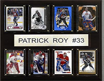NHL Patrick Roy Montreal Canadiens 8 Card Plaque
