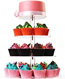 4 Tiers Round Cupcake Stands- Acrylic Glass Round Cupcake Stand- Cupcake Stand- Dessert Stand