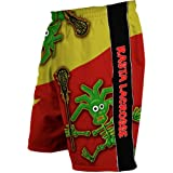 Flow Society Lacrosse Gear Mesh Short Rasta Skeleton Red Green Gold Size Youth Extra Small XS