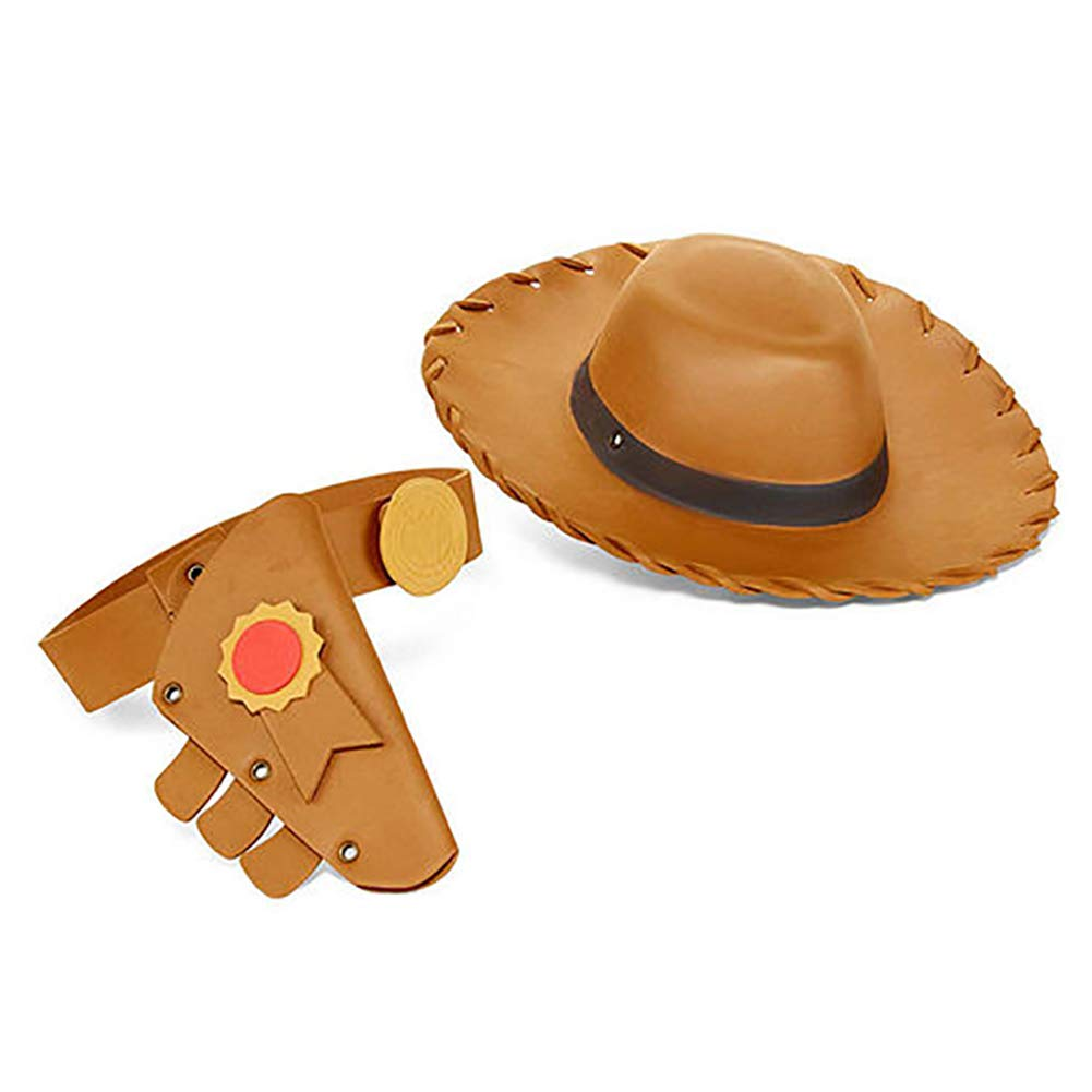 Disney Woody Boys 3 Piece Toy Story 4 Dress Up Accessory Set with Hat, Holster, and Belt Tan