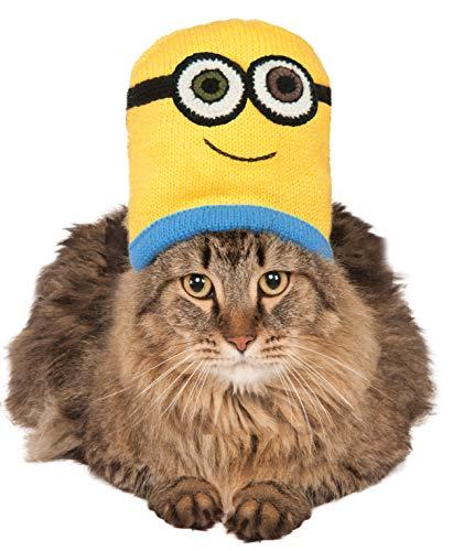 Minion Bob Knit Cat Headpiece, NS]()