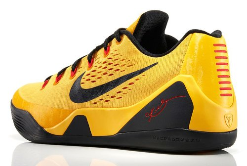 Nike Kobe IX EM (Bruce Lee) University Gold Blk-Lsr Crmsn (9.5 ... 4cd906123574
