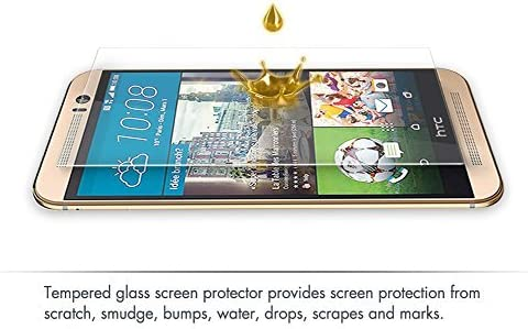 9618a4f60c5 Protector Pantalla HTC one M9 2-Unidades aiMaKE Protector Pantalla Cristal  Templado HTC one M9 (Alta Definicion HD 0.33mm ultra delgado)