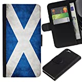 Graphic4You Vintage Scottish Flag of Sco