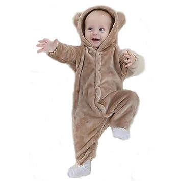 bc0363d9c9c47 YOYURISE ロンパース ベビー 着ぐるみ もこもこ カバーオール かわいい キッズ コスチューム 防寒着 男の子 女の子 出産祝い (