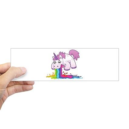 Bumper sticker unicorn vomiting puking rainbow