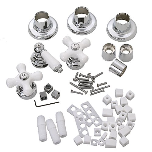 Ceramic Trim Shower (BrassCraft SK0387 Universal Fit Tub and Shower Faucet Trim Kit, Chrome/White Ceramic)
