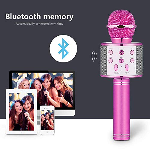 HahaGift Gifts for 3-14 Year Old Girls, Microphone Idea for Kids Toy Microphone for Kids Microphone Fun Toys for 3-14 Year Old Girls Boys Purple by HahaGift (Image #3)