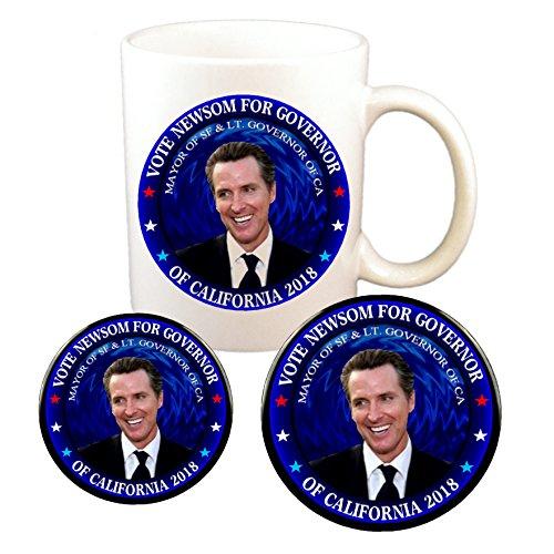 (Gavin Newsom Photo Governor Cup (11 oz) + 3