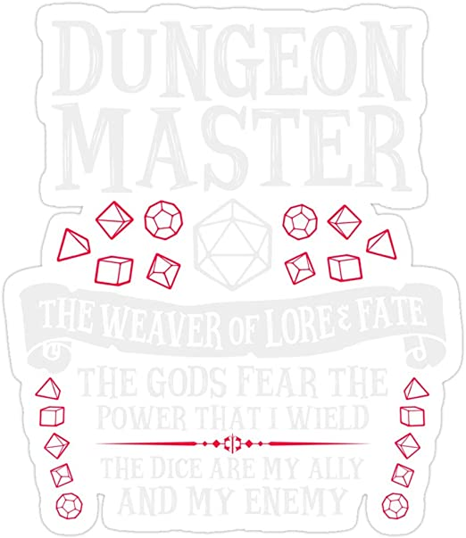 Dungeon Master Decal//Sticker