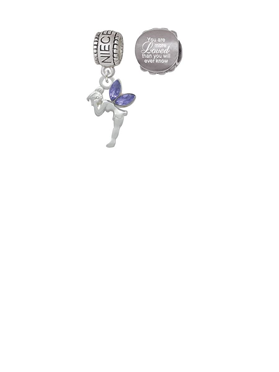 Amazon.com: Delight Jewelry Small Fairy with Purple Wings ...
