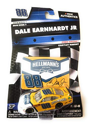NASCAR Authentics Dale Earnhardt Jr. #88 Diecast Car 1/64 Scale - 2018 Wave 7 with Free Magnet - Collectible Dale Earnhardt Diecast Collectibles