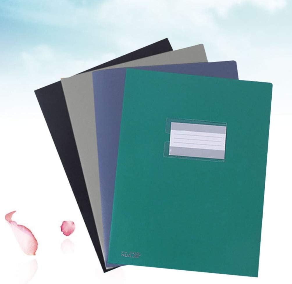 Random Color NUOBESTY 10pcs Twin Pockets File Folder A4 Portfolios Paper Insert Folders Document Letter Organizing Folders for Office