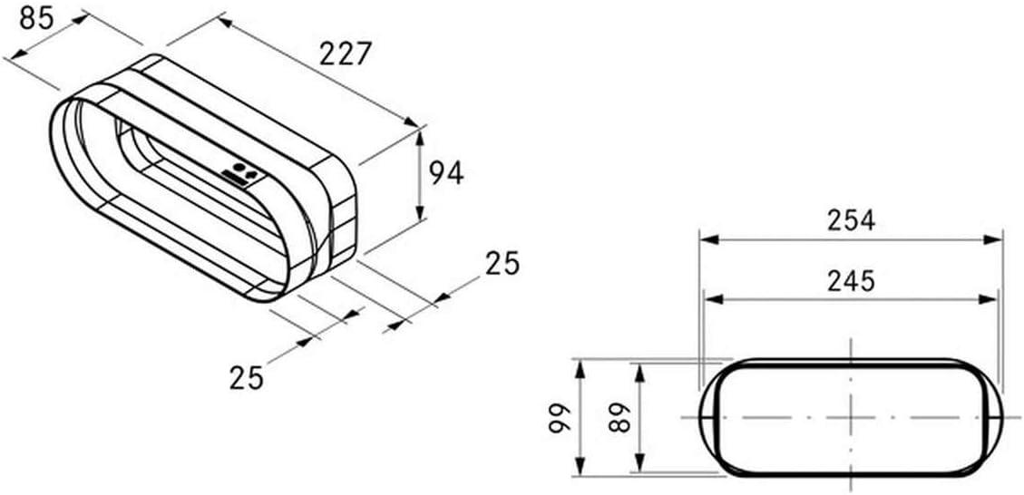 Bora Ecotube EFA/1 Adaptador plano accesorio para sistema de ventilación: Amazon.es: Grandes electrodomésticos