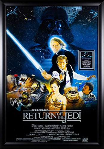 Star Wars - Return of the Jedi - Signed Movie Poster with Coa