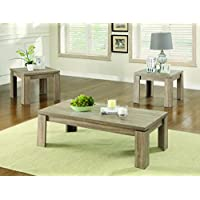 Coaster 701646 Home Furnishings 3 Piece Occasional Set, Weathered Brown